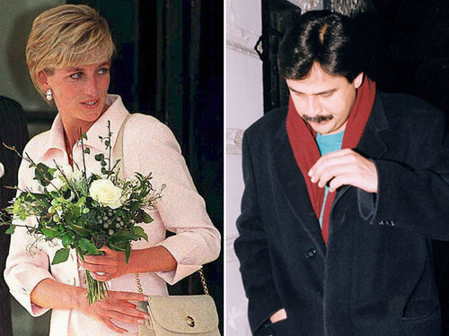 tim, trái tim surgeon Hasnat Khan, shown in 1996, had a relationship with Diana, Princess of Wales. .