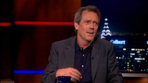 Hugh Laurie on The Colbert segnala 06.08.2013