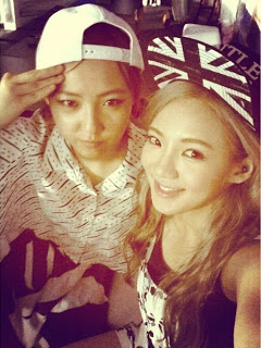 Hyoyeon with Min at a Rock Festival!