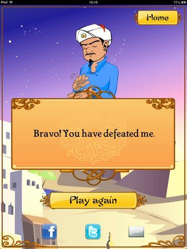 I beat Akinator :D