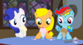 I drow rarity cidre fort, applejack and arc en ciel dash as the C.M.Cs!