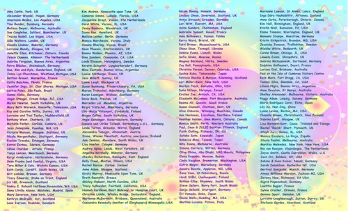 Inside of card with names..