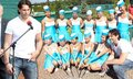 Jagr and majorettes