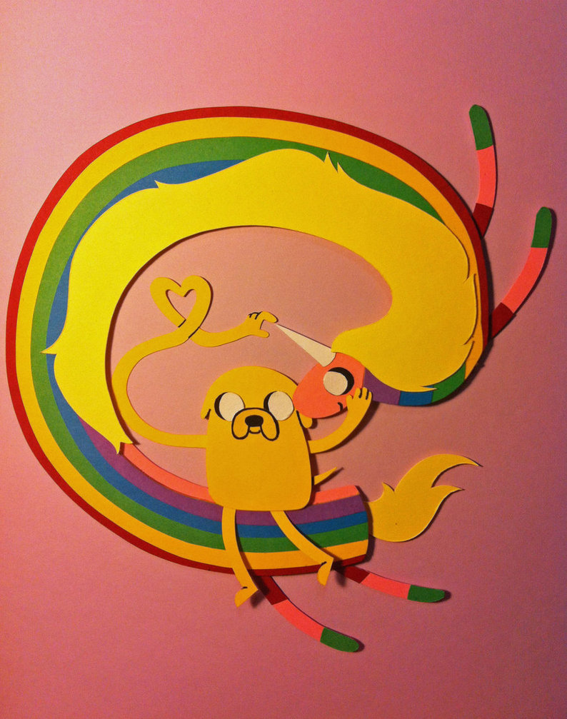 Jake-and-Lady-Rainicorn-Papercraft-adventure-time-with-finn-and-jake