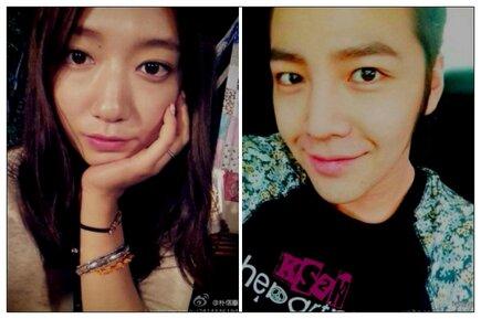 Jang Geun Suk And Park Shin Hye Weibo pics 2013