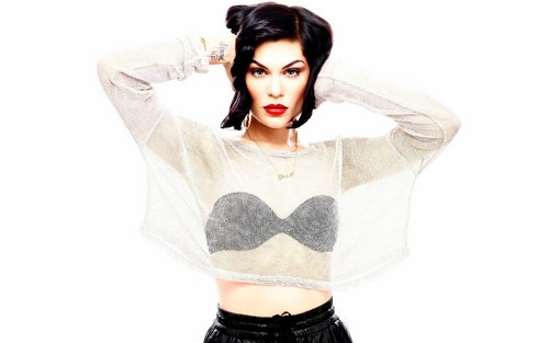 Jessie J achtergrond probably containing attractiveness, a brassiere, and a lingerie entitled Jessie J classy
