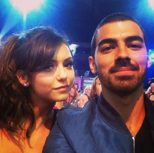 Joe Jonas And Nina At TCA 2013
