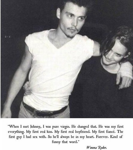 Celebrity Couples پیپر وال with a portrait called Johnny & Winona