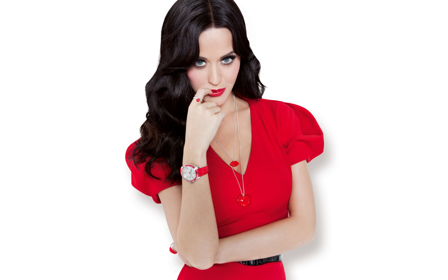 Katy Perry lady in red