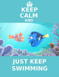 procurando nemo wallpaper containing animê called Keep calm and just keep swimming