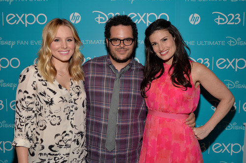 Kristen Bell, Josh Gad and Idina Menzel at D23 Expo
