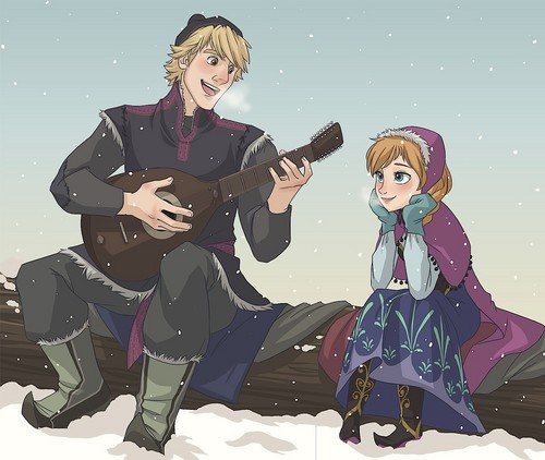 Princess Anna 바탕화면 called Kristoff and Anna