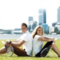 Kvitova and Berdych - tennis photo