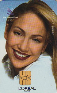 Jennifer Lopez wallpaper with a portrait entitled L'Oréal 1999