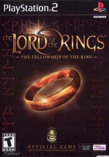 LOTR: Fellowship of the Ring - PS2 game cover (Front)