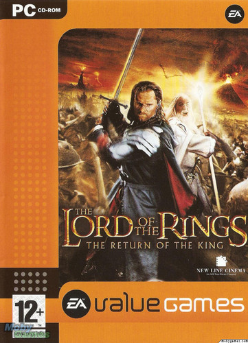 LOTR: Return of the King - PC game cover (Front)