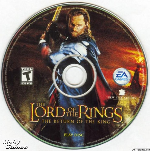 LOTR: Return of the King - PC game disc