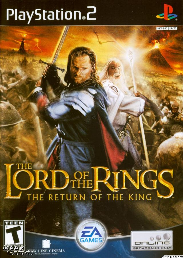 LOTR: Return of the King - PS2 game cover (Front)