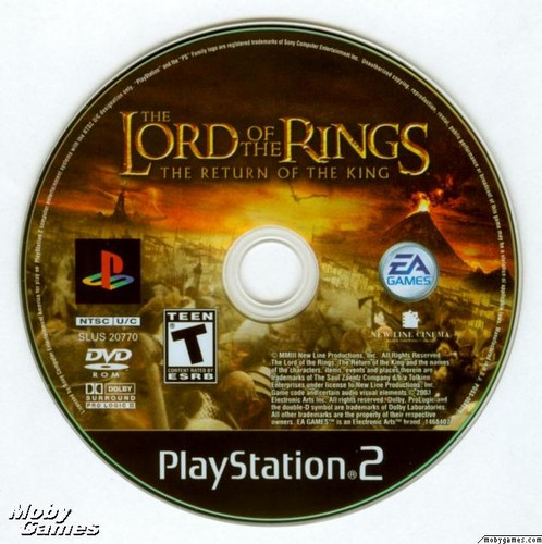 LOTR: Return of the King - PS2 game disc