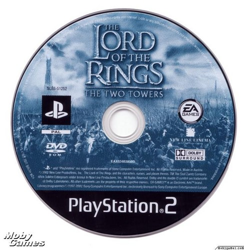 LOTR: The Two Towers - PS2 game disc
