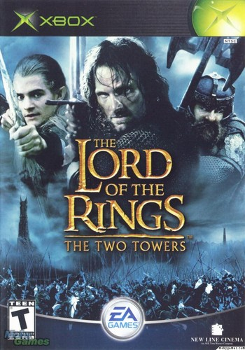 LOTR: The Two Towers - Xbox game cover (Front)