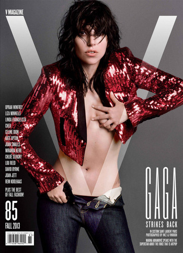 Lady Gaga for V Magazine - V85 Cover 1: Yves Saint Laurent