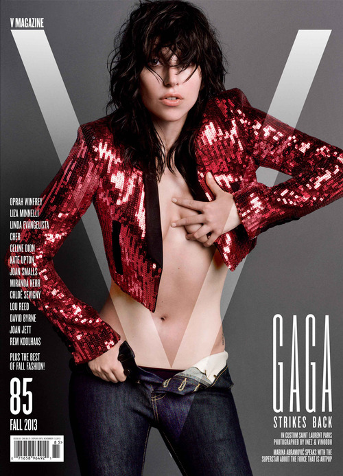 Lady Gaga for V Magazine - V85 Cover 1: Yves Saint Laurent