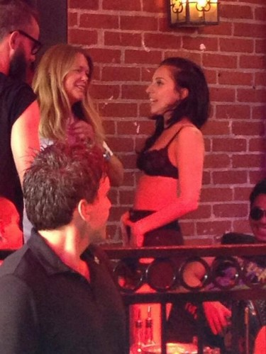 Lady Gaga at a bar in Los Angeles (Aug. 11)