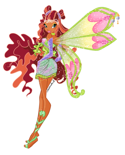 Winx Club fond d'écran possibly with a hippeastrum entitled Layla Enchantix