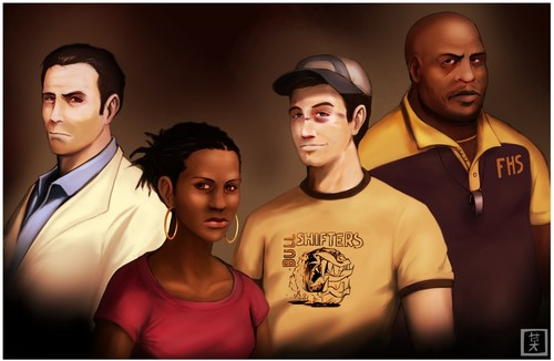 left 4 dead 2 wallpaper probably with a portrait titled Left 4 Dead 2 Surviors