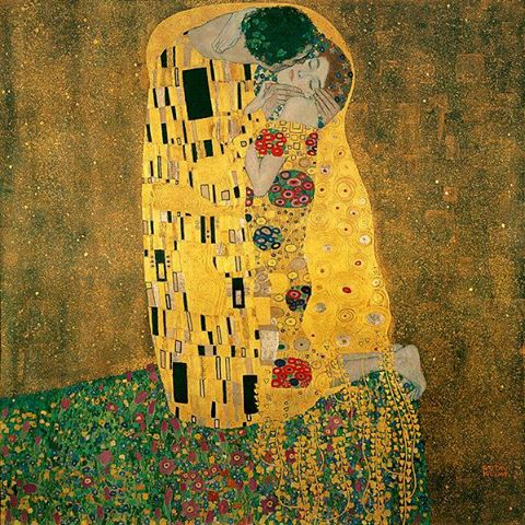 cinta wallpaper entitled The ciuman (Klimt)