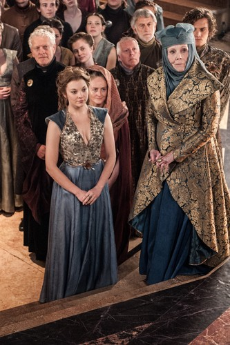 Margaery Tyrell wallpaper possibly containing a polonaise, a kirtle, and a dinner dress called Margaery Tyrell