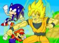 Mario vs Sonic vs Goku