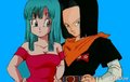 Maron and 17 - dragon-ball-females fan art