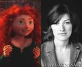 Merida and her voice actress Kelly Macdonald