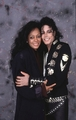 Michael And Diana Backstage - michael-jackson photo