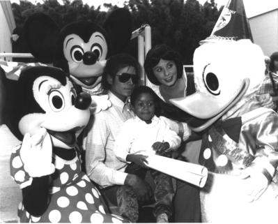 Michael And Emmanuel Lewis At Disneyland