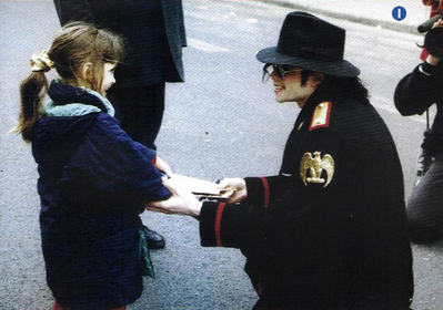Michael Talking With A Young Fan