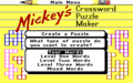 Mickey's Crossword Puzzle Maker - mickey-mouse photo
