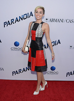 Miley Cyrus at Liams film Paranoia premiere in Los Angeles