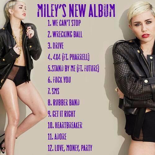 Miley's New Album Bangerz Tracklist