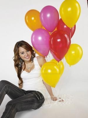 Miley with Balloons