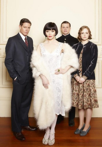 टेलीविज़न वॉलपेपर entitled Miss Fisher's Murder Mysteries main cast