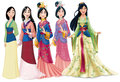 mulan Dress Evolution