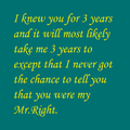 My Mr.Right
