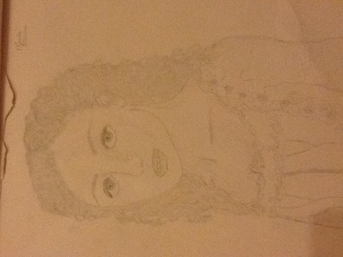 My drawing of Emmy Rossum as Christine