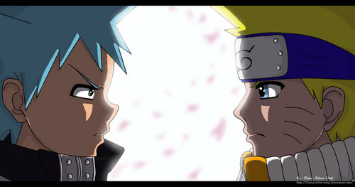 anime debat wallpaper called naruto and Black bintang