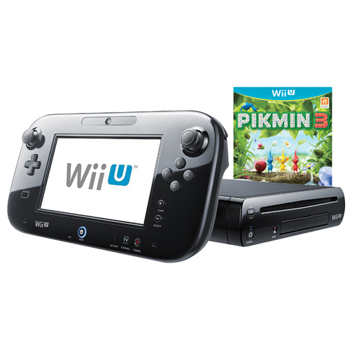 Nintendo Wii U 32GB Pikmin 3 Bundle - Black