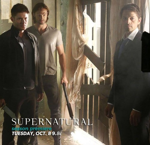 Supernatural images official season 9 bts poster hd wallpaper and supernatural wallpaper with a business suit called official season 9 bts poster voltagebd Gallery