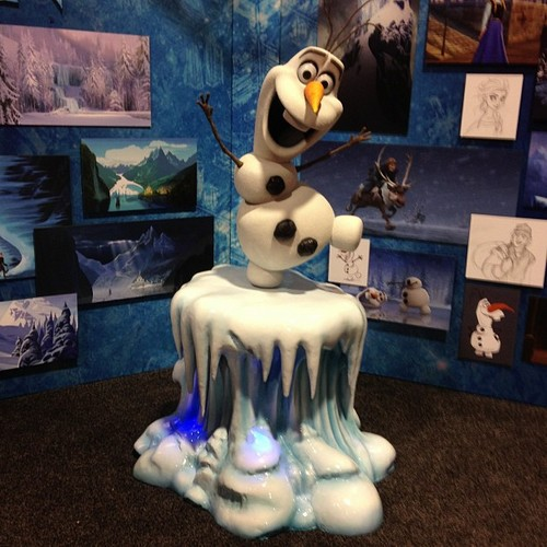 Olaf sculpture at d23 expo